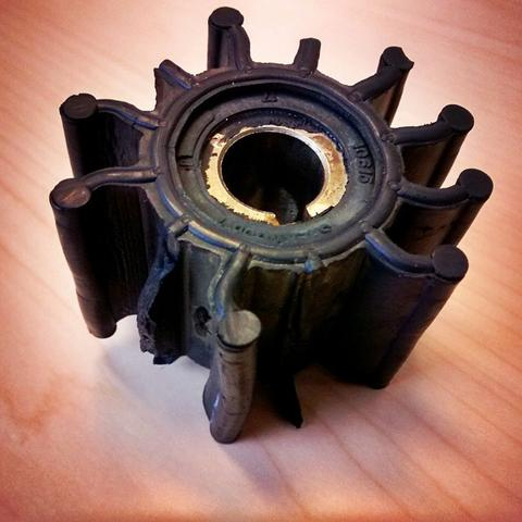 SIGNS OF A WORN OUT IMPELLER - MasterCraft Lake Powell